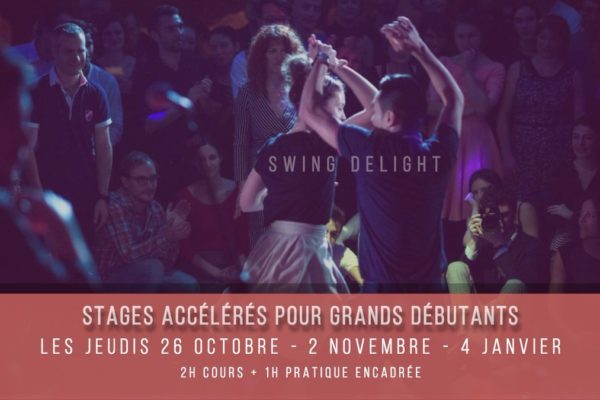 Swing Delight Workshop #12 – Stages accélérés Lindy Hop pour Grands Débutants