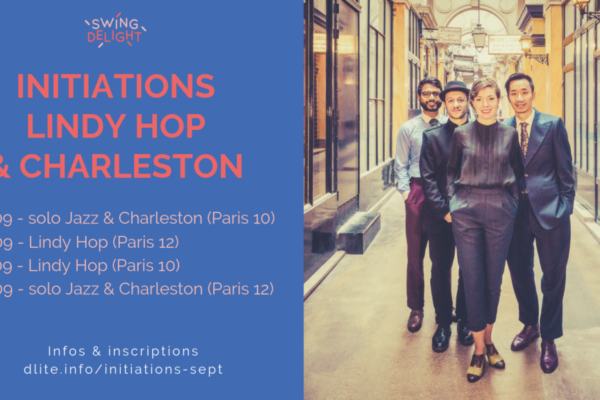 Initiations Lindy Hop – Charleston – solo Jazz – septembre