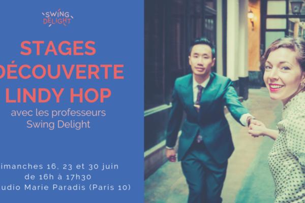 Stages découverte Lindy Hop – juin