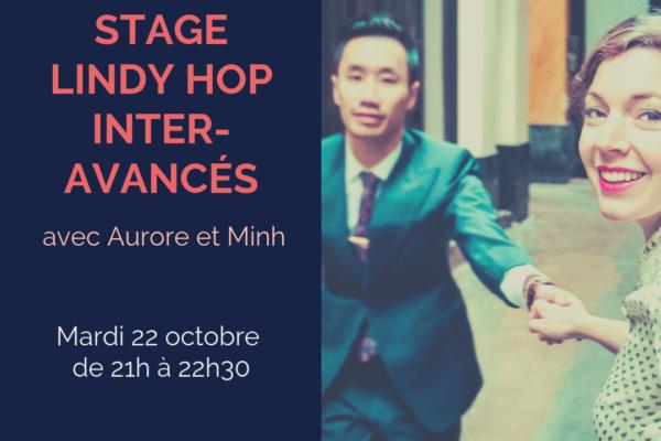 Stage Lindy Hop inter avancés avec Aurore et Minh