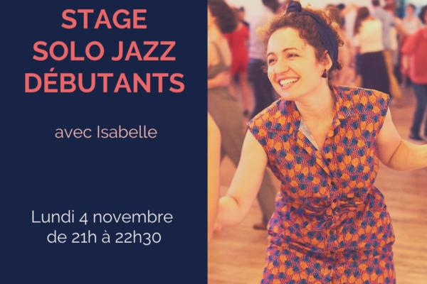 Stage solo Jazz débutants – Novembre