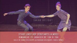 Stage Lindy Hop niveau débutant avec Swing Delight